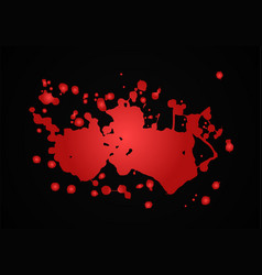 blood splash red vector image