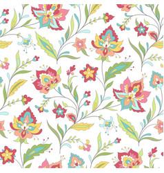 Boho floral pattern vector