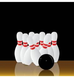 Bowling alley vector
