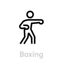 boxing sport icons vector image