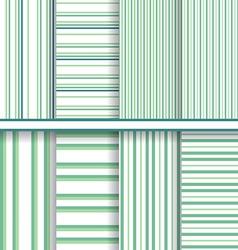 bright stripes seamless patterns set - soft green vector image