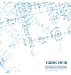 Building design background Blue pile caps plan vector image