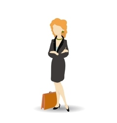Business woman wearing black suit Isolated on vector image