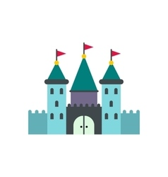 Castle icon flat vector