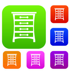chest of drawers set collection vector image