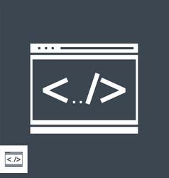 Coding line glyph icon vector