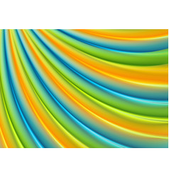 colorful smooth waves abstract pattern design vector image