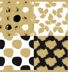 cute art seamless pattern set vector image