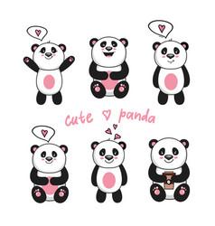 cute bapandas vector image