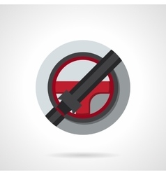 Driver safety round flat color icon vector