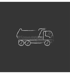 Dump truck Drawn in chalk icon vector