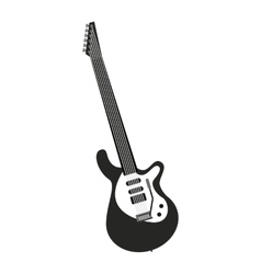 electric guitar isolated icon design vector image