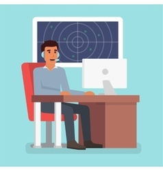 Emergency call center online support Phone vector image