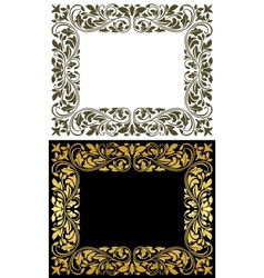 Floral frame in retro style vector