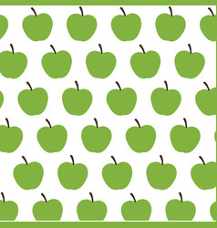 green apple fruit harvest fresh seamless pattern vector image