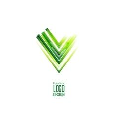 Green futuristic Triangle logo vector image