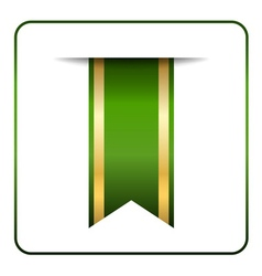 Green gold bookmark vector