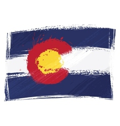 grunge colorado flag vector image
