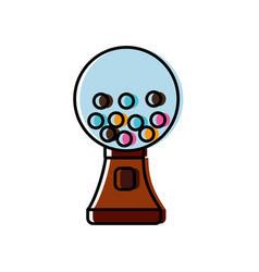 Gumball machine icon vector