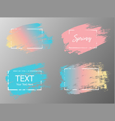Hand drawn artistic design element box frame or vector