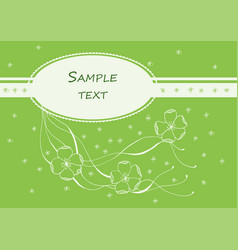 hand drawn card with blank place for text vector image