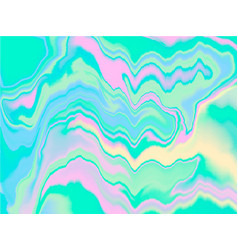 Holographic abstract background in pastel neon vector