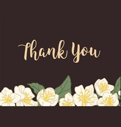 horizontal template wedding gratitude card with vector image