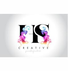 Hs vibrant creative leter logo design vector