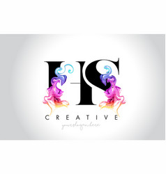 Hs vibrant creative leter logo design with vector