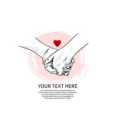 I love you design hand holding with red heart vector