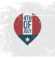 independence day 4th july vintage banner vector image