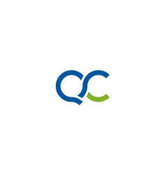 initial letter q and c with infinity style logo vector image