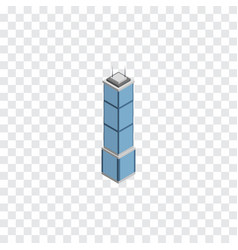isolated cityscape isometric apartment vector image