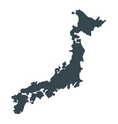 japan map icon vector image