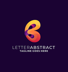 letter abstract template vector image