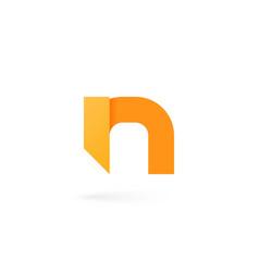 Letter n logo on white alphabet background vector