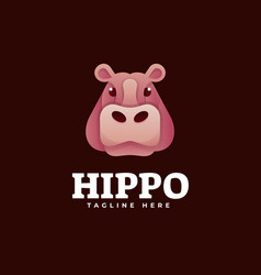 logo hippo gradient colorful style vector image