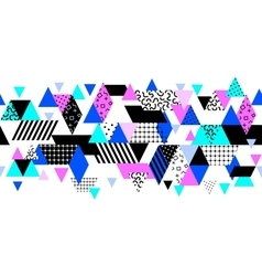 Memphis style background vector image