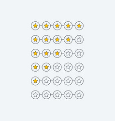 Minimal star rating customer feedback symbol vector