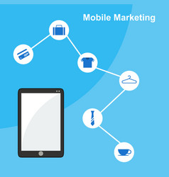 mobile marketing flat design style vector image
