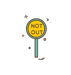 notout decision umpire icon design vector image