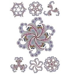 Ornamental round lace vector