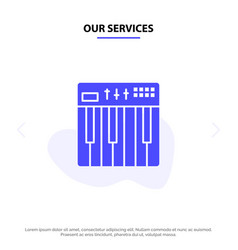 Our services controller hardware keyboard midi vector