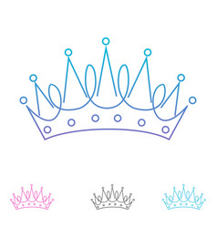 Outline creative crown abstract logo design vector