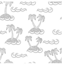 palm trees on the island zen tangle a trip to vector image