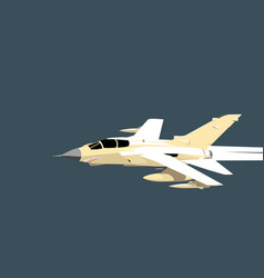 Panavia tornado modern jet fighter in flight vector