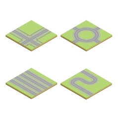 Part of the road highway isometric element vector image