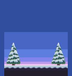 Pixel art winter vector