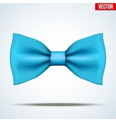 Realistic blue bow tie vector image