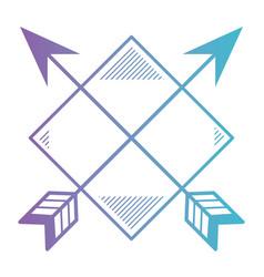 Rhombus frame with arrows vector